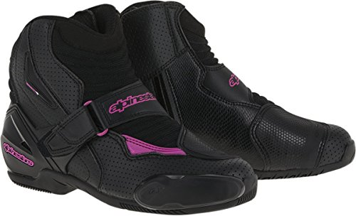 (Alpinestars Stella SMX-1R Vented Women's Street Motorcycle Boots - Black/Pink / 39)
