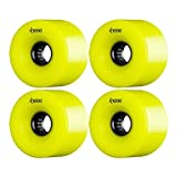 These ATF-327 Centerset Yellow / Black Longboard Wheels - 69mm 80a (Set of 4)