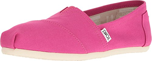 TOMS Seasonal Classics Fuchsia Canvas Women's Slip on Shoes