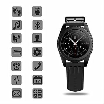 Monitor de ritmo cardíaco reloj inteligente, Smartwatch con MP3 música/Twiter/Facebook/