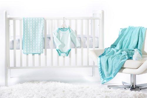SwaddleDesigns Newborn Bedding Blanket Turquoise