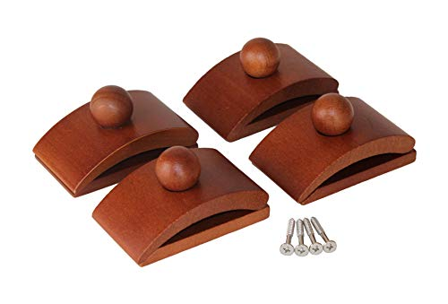 Classy Clamps Wooden Quilt Hangers - 4 Large Clips (Dark) and Screws for Wall Hangings. Hang up and Display Quilts, Tapestries, Rugs, Fiber Art, and More!