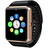 Maya GT08 Bluetooth For Android, Ios, & Smart Phones Metal Smartwatch - Gold Brown