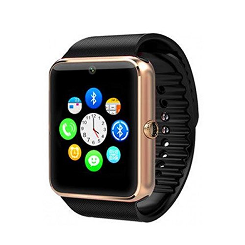 Maya GT08 Bluetooth For Android, Ios, & Smart Phones Metal Smartwatch – Gold Brown