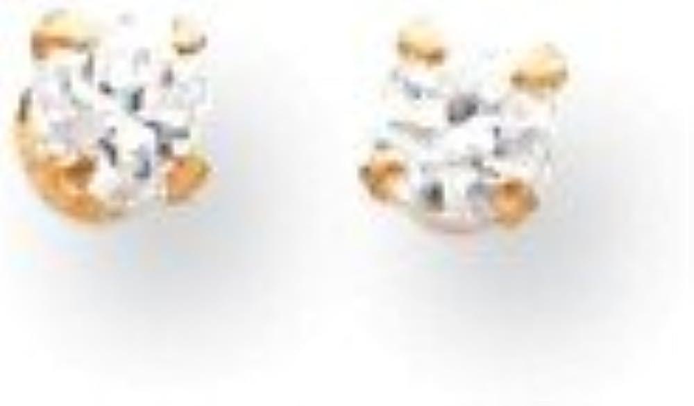 14k Madi K 2.75mm Cubic Zirconia Screw Back Earrings
