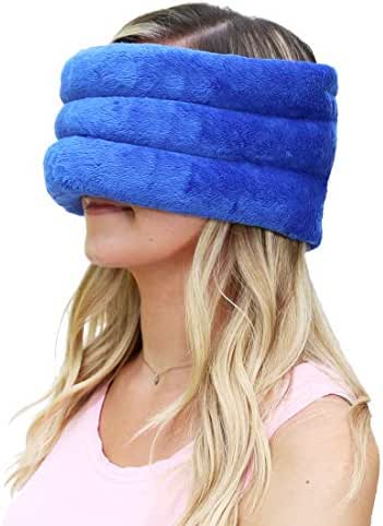 Huggaroo Migraine Hat - Heated Eye Mask - Microwavable Heating Pad for Sinus Relief - Hot/Cold Headache Wrap for Sinus Headache Relief, Migraine Relief, Tension Headache Relief