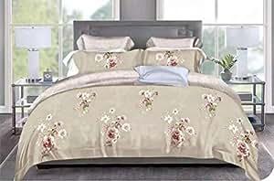 King Size 220X240, Cotton, Floral Pattern, Multi Color - Duvet Cover bedding Setsd