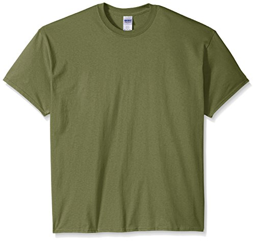 Gildan Men's Ultra Cotton Tee Extended Sizes, Military Green XX-Large