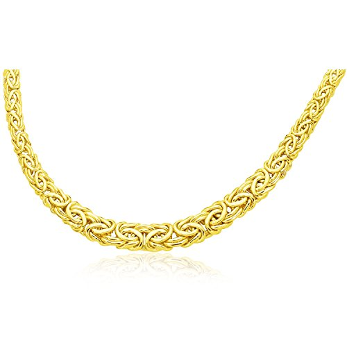ntine Chain Graduated Style Necklace (14k Yellow Gold Byzantine Chain)