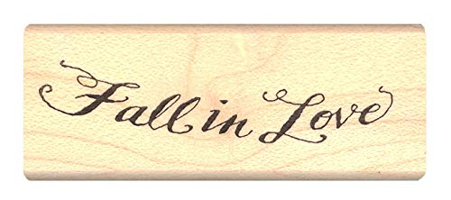 Pink Ink Stamps Fall in Love Rubber Stamp