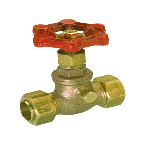 CFI PRODUCTS GIDDS-296564 105-613NL Stop & Waste Valve 1/2 InComp, Lead Free-296564