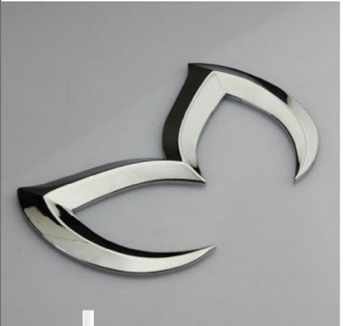 SuPoo FOR Mazda Silver Sporty Metal Evil 'M' Rear Trunk Badge Decal Emblem Matte 3 5 6 (Mazda Evil M compare prices)