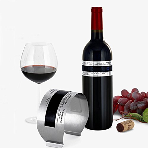 Bar Tools & Accessories - Kcasa Wine Bottle Digital Thermometer Bracelet Reader Metal Lcd Stainless Steel Sleeve - Wine Thermometer Digital Bracelet Stick And Pump Celsi Controller - 1PCs