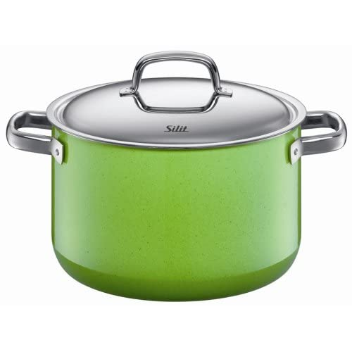 Silit  Fresh  7-Quart High Casserole with Lid, Lemon Green