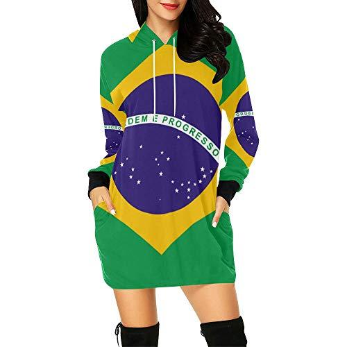 Lumos3DPrint Brazil Flag Women's Hoodie Mini - Brazil Womens Dress