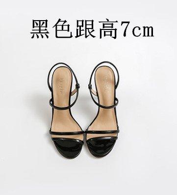 Vivioo Sandalen Sandalen Vrouwen Hoge Hakken Schoenen Met Hoge Hakken Open Sandalen Vrouwelijke Zomer Hoge Hakken Prima Met Kleine Werven Zwart 7cm