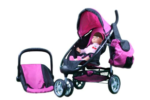 Doll One Pram (Mommy and me 2 in 1 Doll stroller / Carrier with FREE carriage bag)
