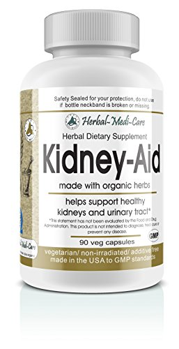 Herbal-Medi-Care Whole Food Kidney-Aid Vegetarian Capsules; 90-Count, Made with Organic