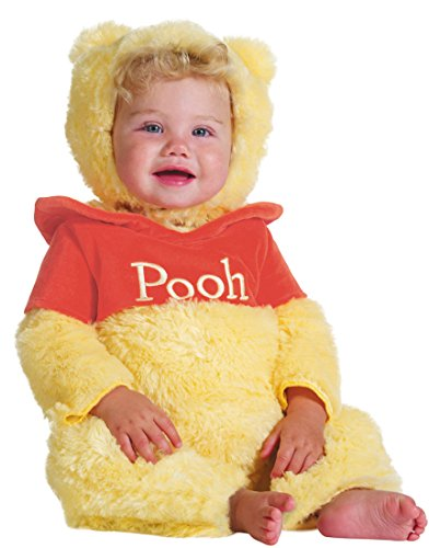 Disguise Baby's Disney Winnie The Pooh Prestige Costume, Yellow/Red, 6-12 Months (Winnie Pooh Costume)