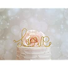 LOVE Wedding Cake Topper in GOLD Finish Special Events Decoration