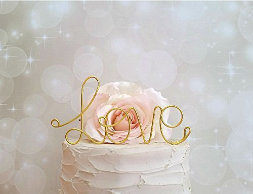 - LOVE Wedding Cake Topper in GOLD Finish Special Events Decoration