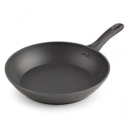 Cook N Home 02587 Nonstick Heavy Gauge Skillet Omelet, Grey 12-Inch Fry Pan,
