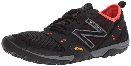 New Balance Men's 10v1 Minimus Trail Running Shoe, Black/Alpha Orange, 12.5 W US (Barefoot Balance Shoes New)