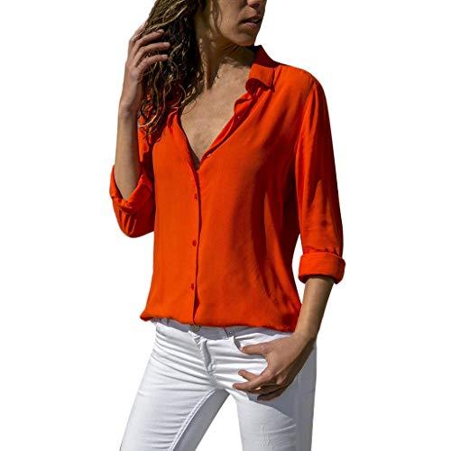 - Chiffon Solid T-Shirt Womens Long Raglan Sleeve Casual Lightweight Blouse Sweatshirt Red