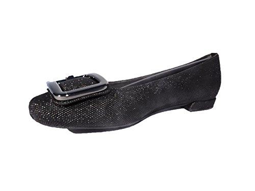 Weitzman Stuart Heel Flat - Stuart Weitzman Women's Squared Black Ballet Flats, 1/2 Heel Loafers Flats Size 4 M
