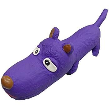 Latex squeaky toy purple