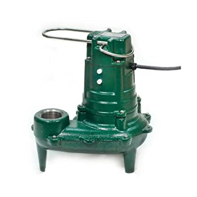 Zoeller 267-0002 115-Volt 1/2 Horse Power Model N267 Waste-Mate Non-Automatic Cast Iron Single Phase Submersible Sewage/Effluent Pump