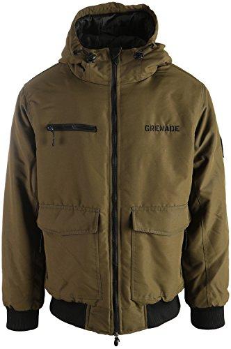 Grenade Bomber Snowboard Jacket Mens Sz L Olive
