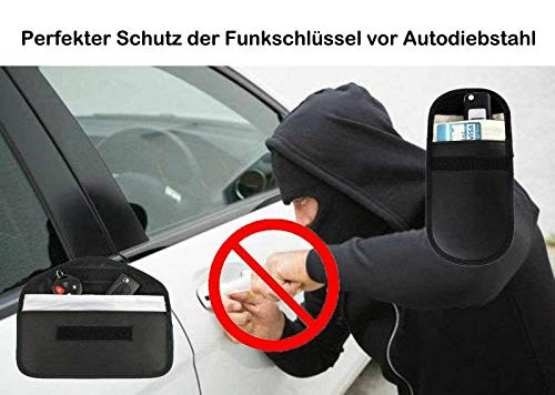 LC Car Key Fob Holder Faraday Bag RFID Signal Blocker Anti-Theft /& Anti-Tracking Pouch WiFi//GPS//NFC//WiFi//Bluetooth Security Case for Car Key Fob//Cell Phone//Credit Cards(2 Pack) Craigshops