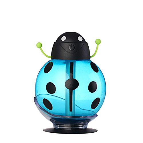 Home Aroma LED Humidifier Air Diffuser Purifier Atomizer for Car Outdoor Office Home Bedroom Baby Room Study Yoga Spa Reading (Blue)