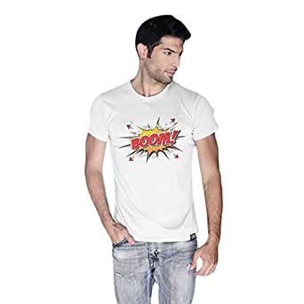 Cero Boom Retro T-Shirt For Men - M, White