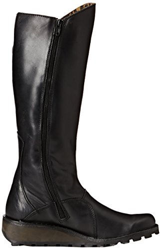 Leather London Mol black Da Donna Nero P210318 Fly 047 Stivali ERFUE