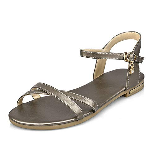 Women Sandals Casual Cow Leather+pu Women Shoes Platform Buckle Summer,Xiangbinse,9