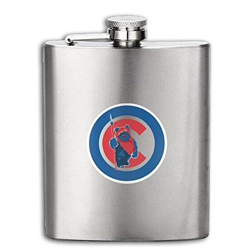 Chicago Cubs Super Cool Logo Hip Flask Portable Flagon Outdoor With Funnel For Tourism Or Camping