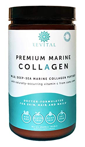 Premium Marine Collagen Powder - Organic Ingredients, Doctor-Formulated, 1.5X More Absorbable Hydrolyzed Protein Peptides - Anti-Aging Hydrolysate Supplement for Skin, Hair, Nails (Paleo & Keto)