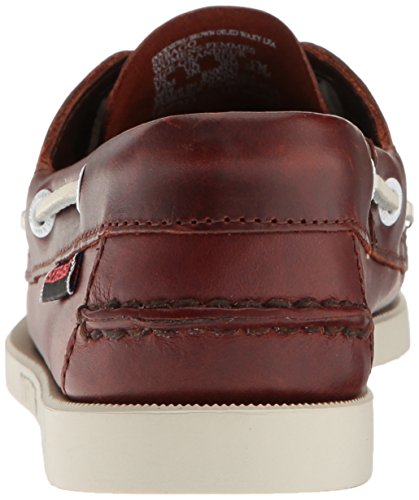 Sebago Docksides, Women's Boat Shoes Brown Oiled Waxy Leather