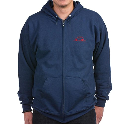 CafePress - Classic Mini Cooper Zip Hoodie (dark) - Zip Hoodie, Classic Hooded Sweatshirt with Metal Zipper ()