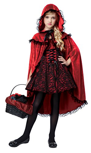 Tween Little Red Riding Hood Halloween Costume (California Costumes Deluxe Riding Hood Costume, Red/Black,)