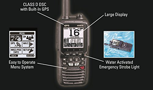 Standard Horizon HX870 6W Floating Handheld VHF Radio w/Integrated GPS Marine , Boating Equipment