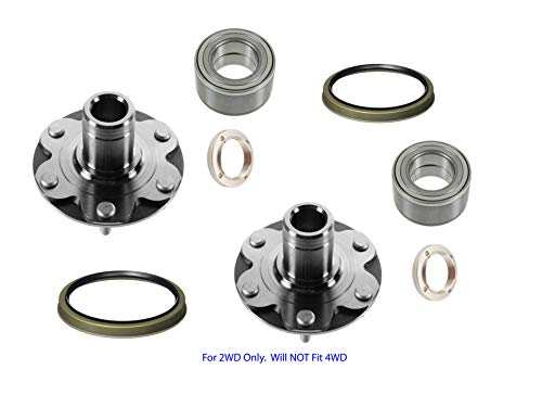 2 DTA Front Wheel Hubs Bearings Kit For 2WD Toyota 4Runner 4 Runner Sequoia Tundra Tacoma 2WD Only. Will NOT Fit 4WD. Front Left and Right. With Seals 710571 (Best Wheels For Tundra)