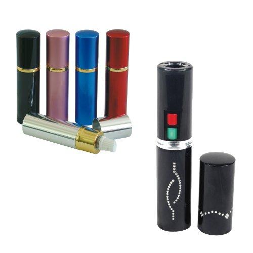 Lipstick Stun Gun and Pepper Spray Bundle - 2 Unit Combo - Pepper Shot 10% Oc Pepper Spray and Stun Master Stun Gun (Black)