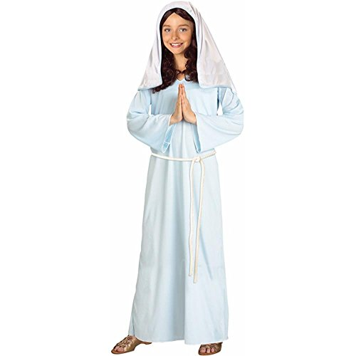 [Girl's Virgin Mary Costume (Size: Medium 8-10)] (Girls Virgin Mary Costume)