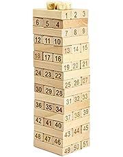 برج خشبي 51 قطعة الخشب الدومينو Jenga اللبنات لعبة مسلية الاطفال هدية