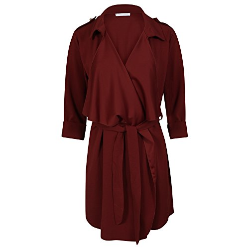 Femme Get Trench Trend Bordeaux Blouson The Y7P7Ix