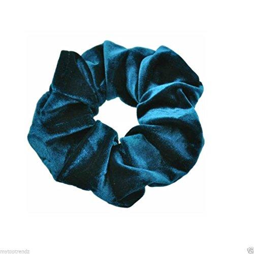 Iuhan Set of 10pcs Velvet Ponytail Holder Hair Scrunchies Hair Ties Donut Hairbands (Sky Blu)