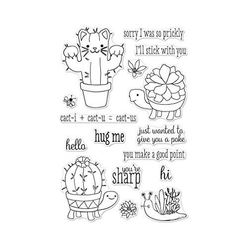 Hero Arts CM267 Clear Stamp Set, Cactus Animals